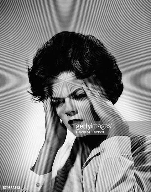 """""""woman with headache, close-up"""" - number of people stock pictures, royalty-free photos & images"""