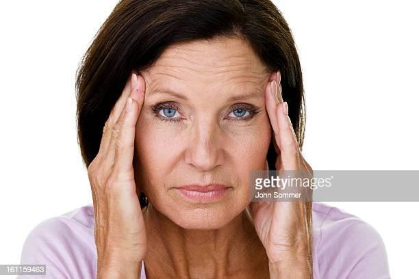 女性、頭痛