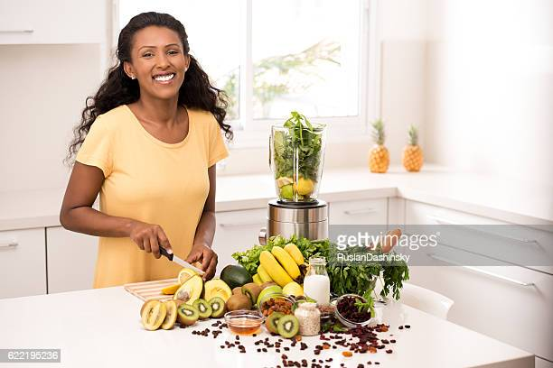 Woman with healthy eating lifestyle.