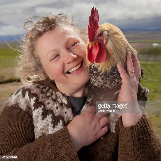 Woman with Hen, Iceland