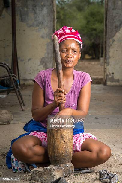 Woman with her churning tools