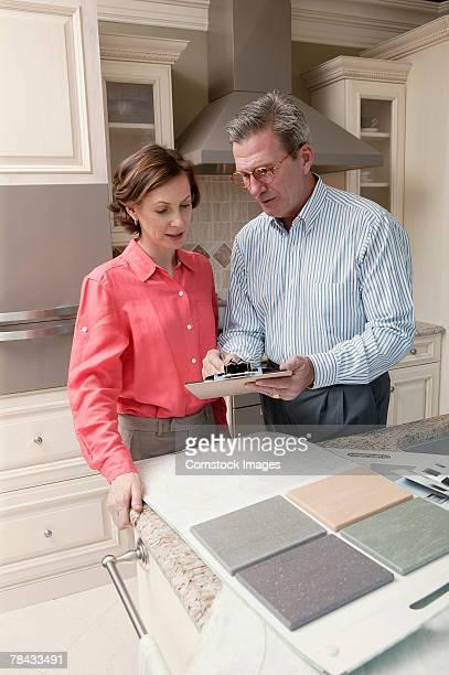 Woman with interior designer