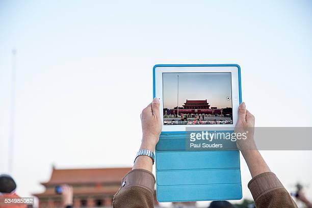 Woman with iPad Camera, Beijing, China