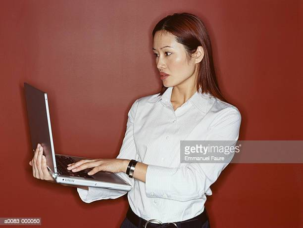 Woman with Laptop Computer