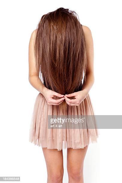 女性長い髪