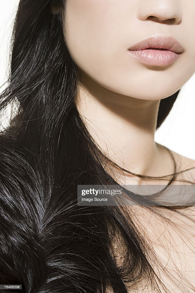 Woman with long hair : Stock Photo