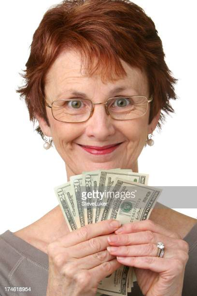 Woman with money.