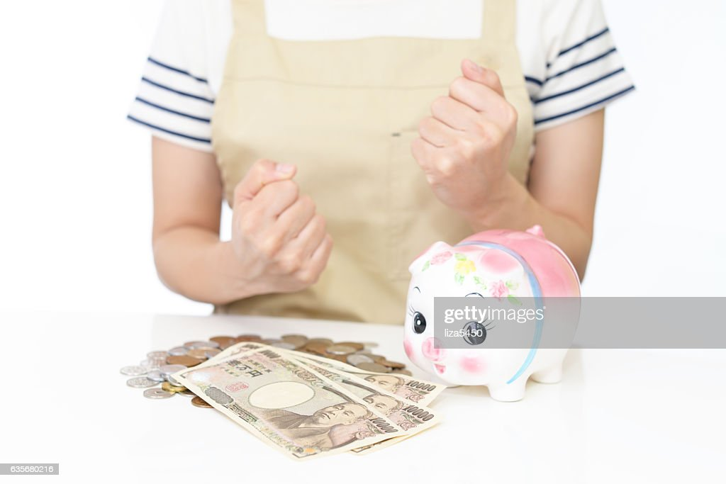 Woman with money : Stock Photo