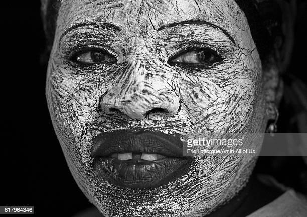 Woman with muciro face mask, ibo island, Mozambique on July 17, 2013 in Island Of Mozambique, Mozambique.