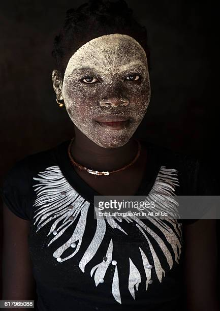 Woman with muciro face mask ibo island Mozambique on July 20 2013 in Quirimba Island Mozambique