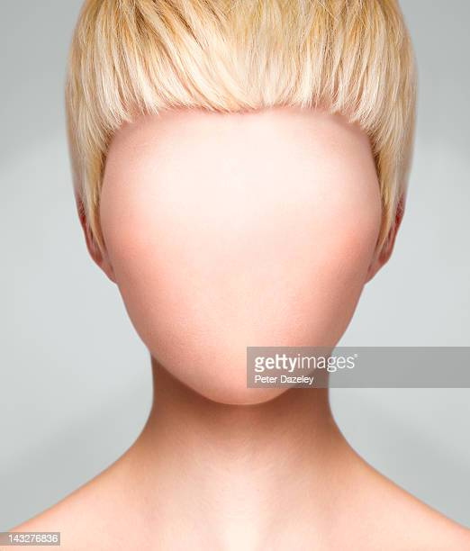 woman with no face - blank expression stock pictures, royalty-free photos & images