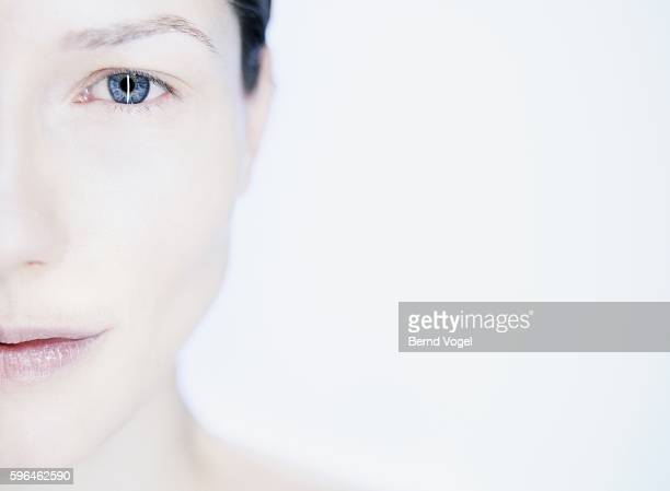 Woman with pensive expression