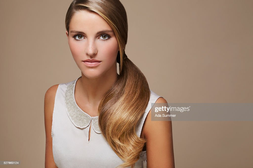 woman with ponytail : Stock Photo