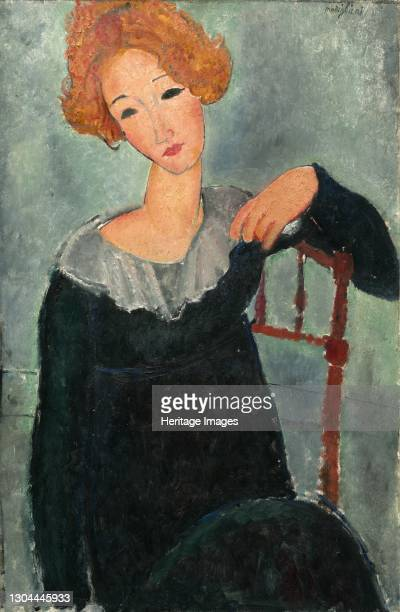 Woman with Red Hair, 1917. Artist Amadeo Modigliani.