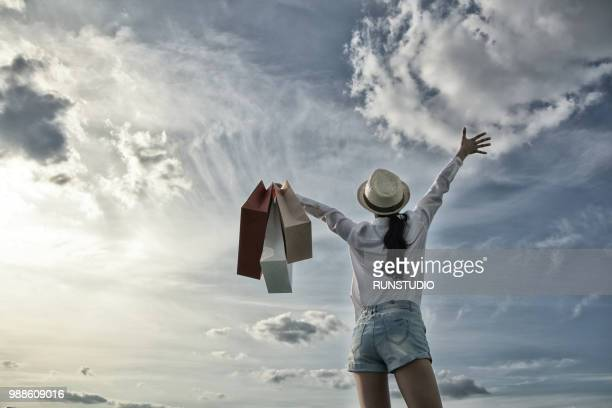 woman with sky
