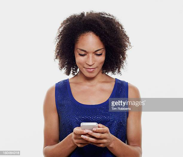 Woman with smart phone.