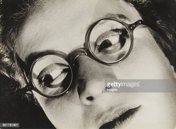 Woman with spectacles Face detail Eyes turned to the left L163 /58 1930 175 239 cm Photograph by Dr Paul Wolff
