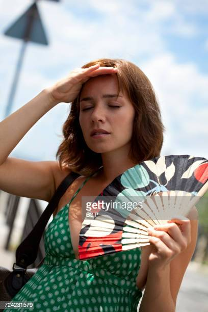 Woman with sunstroke