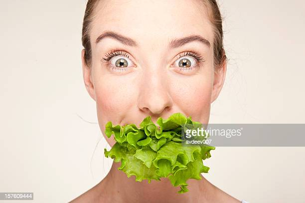 Woman with the lettuce