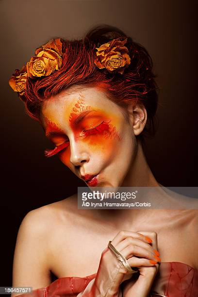 Woman with theatrical make-up