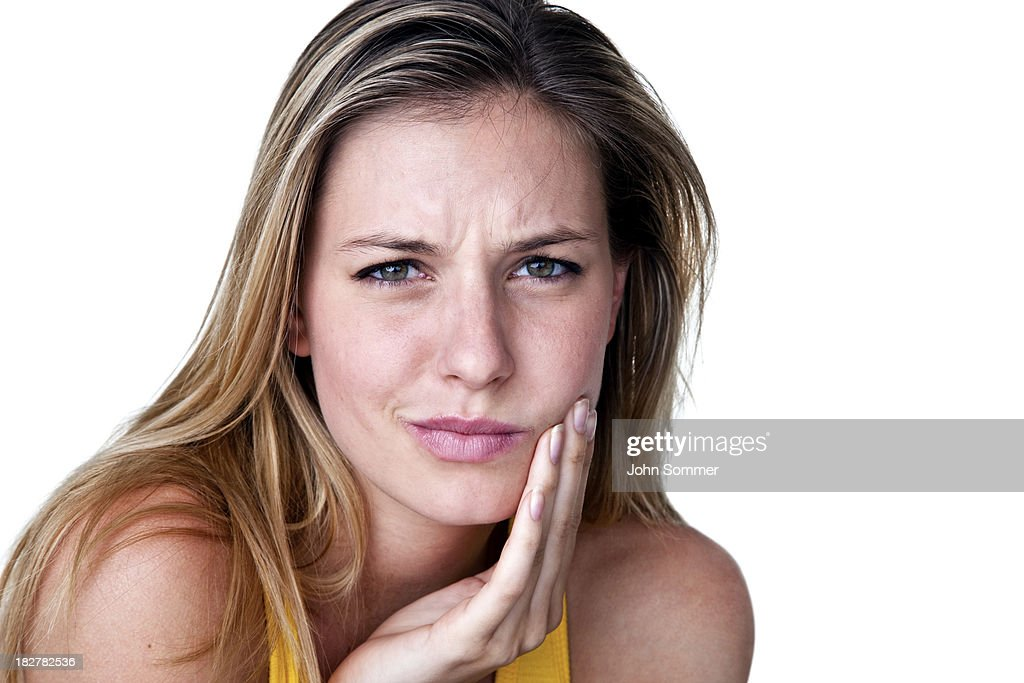 Woman with toothache : Stock Photo