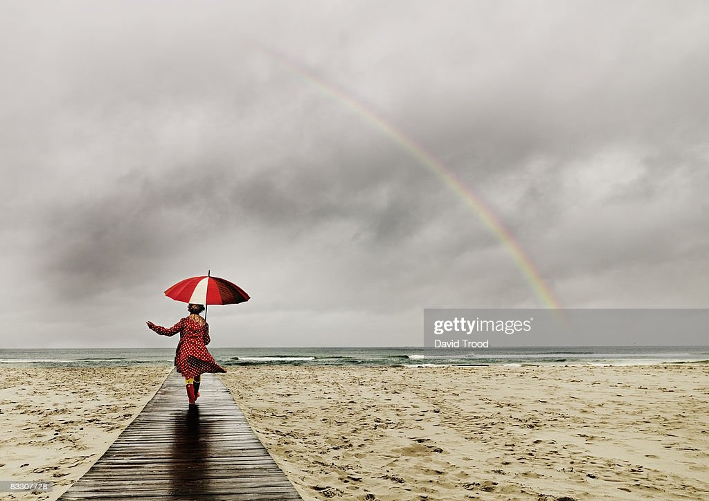 Woman with umbrella : Stock Photo