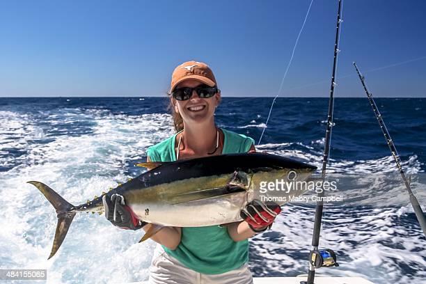 Woman With Yellowfin Tuna