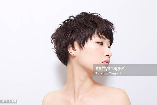 woman without clothes - セミヌード ストックフォトと画像