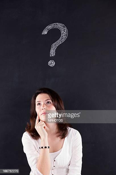 Woman wonder about something