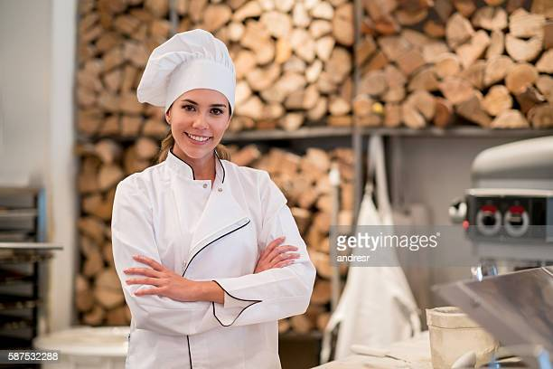 Woman working as chef at a restaurant