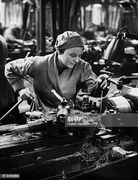Woman Working At An Armaments Factory
