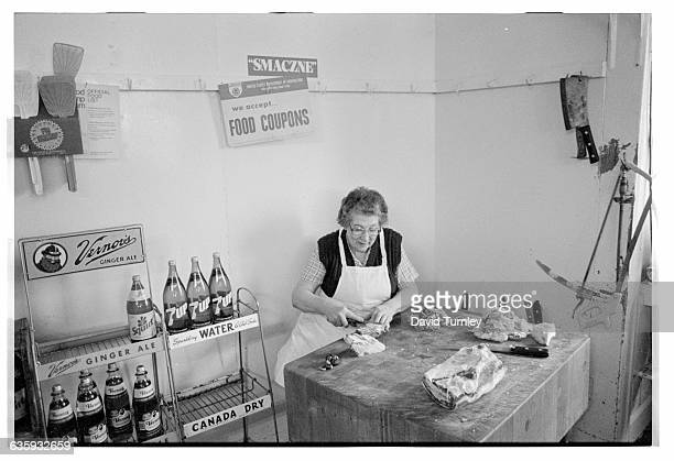 Woman Working in a Butcher Shop