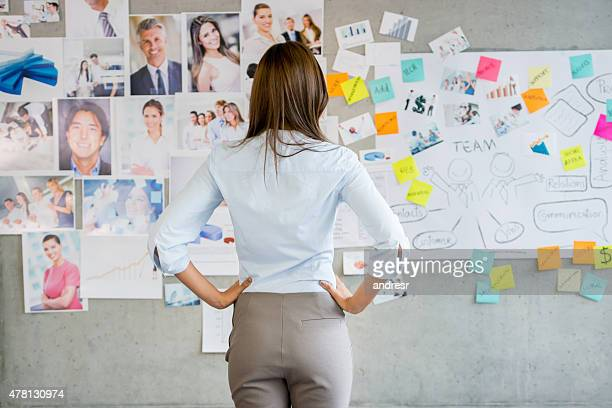 Woman working in a creative business