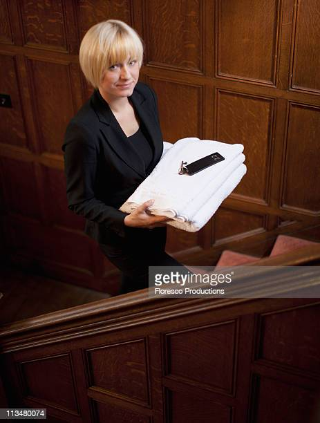 Woman working in a hotel