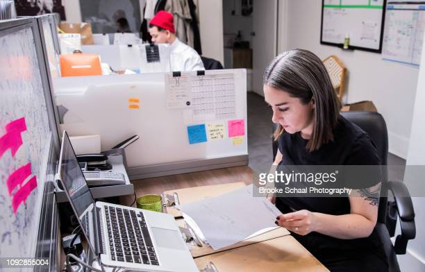 Woman working in an office space