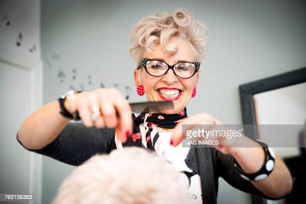 woman working in hair salon - hairdresser stock pictures, royalty-free photos & images