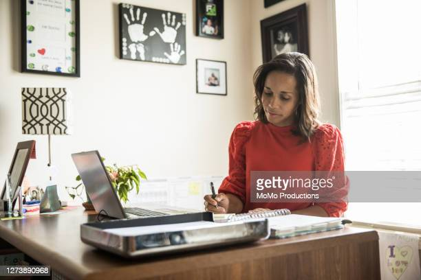 woman working in home office - writer stock pictures, royalty-free photos & images