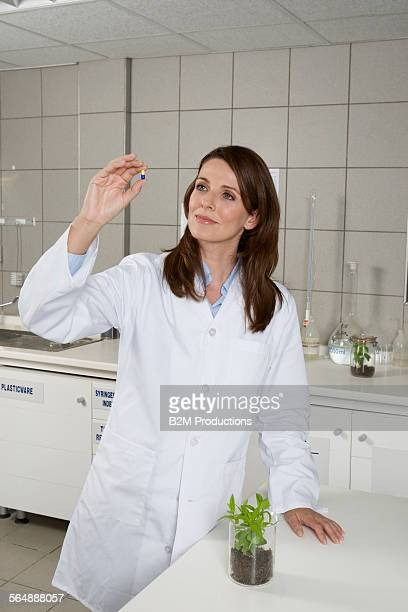 Woman working in laboratory lab