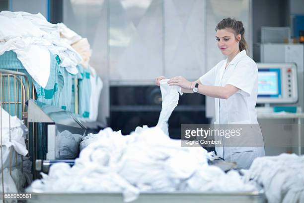 Woman working in laundry