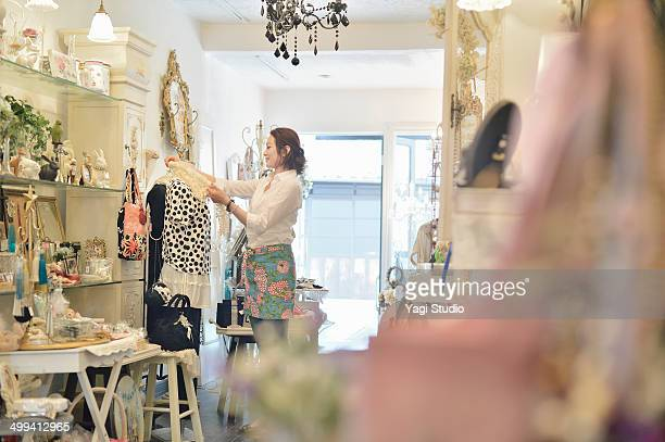woman working in store