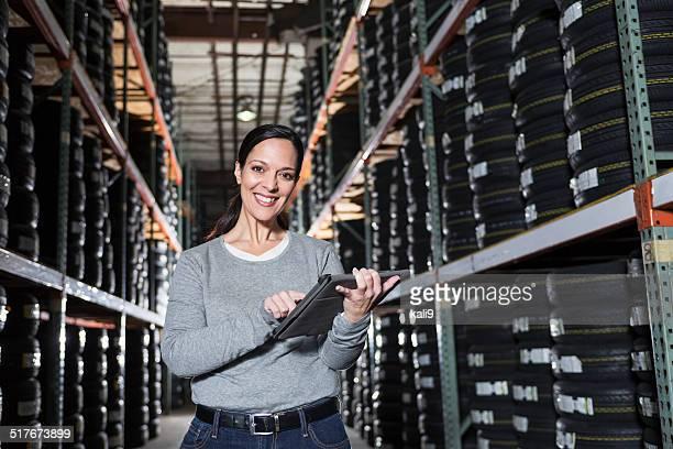 Woman working in warehouse