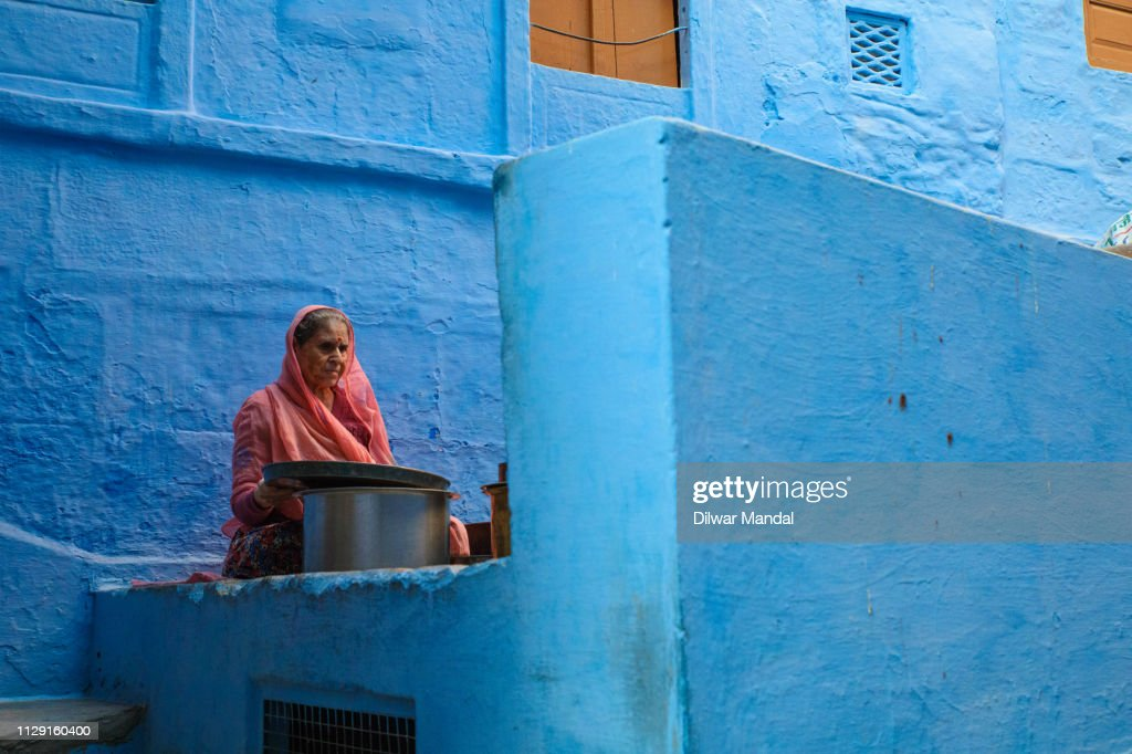 A Woman working on household : Stock Photo