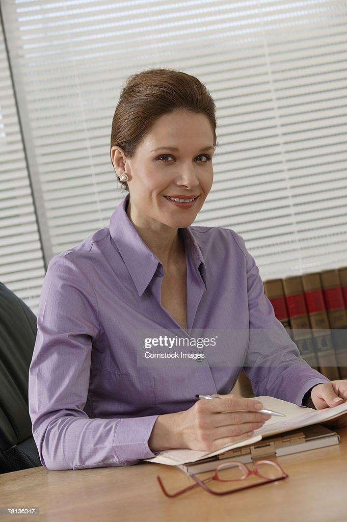 Woman working : Stockfoto