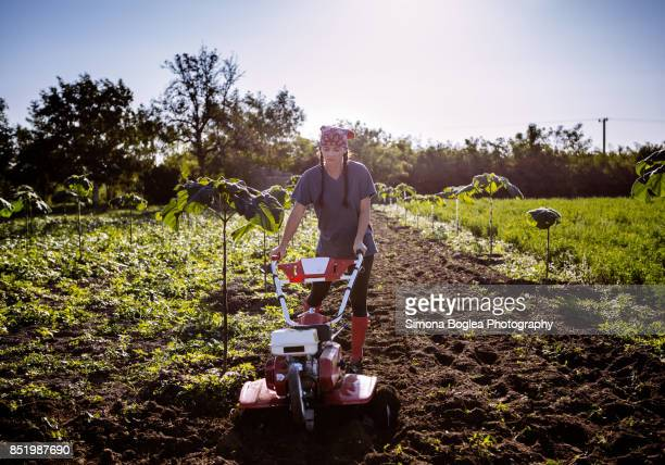 Woman working the soil