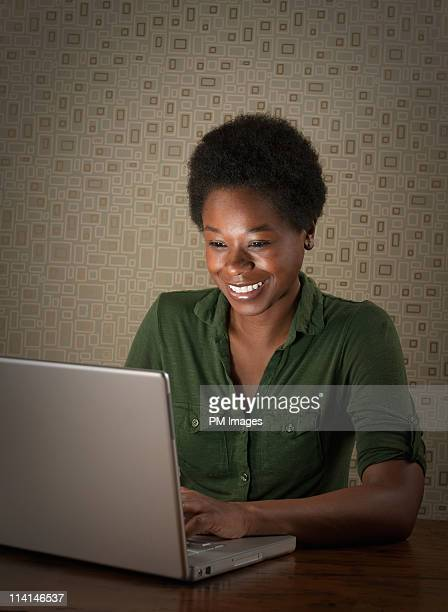 Woman working with lap top