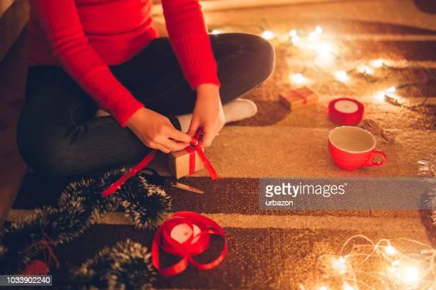 クリスマス プレゼント女性の折り返し