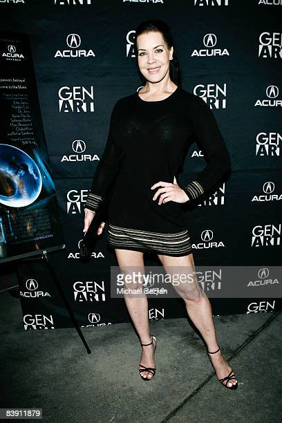 Woman wrestler Chyna arrives at the Los Angeles premiere of Dark Streets at the ArcLight Theater on December 3 2008 in Hollywood California