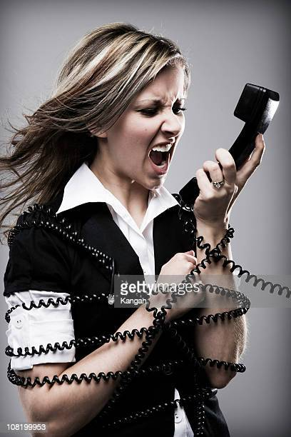 Woman Yelling at Telephone