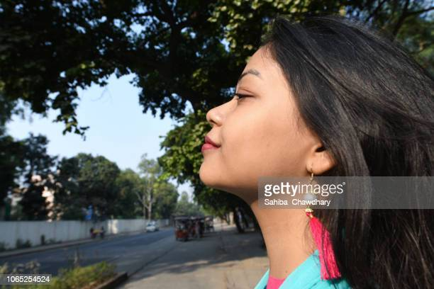 young woman - sahiba chawdhary stock pictures, royalty-free photos & images