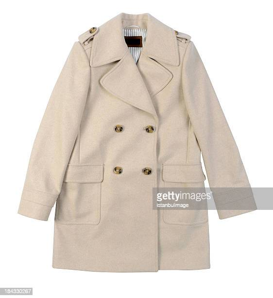 woman's coat isolated - coat stock pictures, royalty-free photos & images